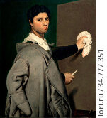 Art, Julie Forestier, 1782-1843, title of the work, Le Portrait de... Стоковое фото, фотограф Molteni&Motta / age Fotostock / Фотобанк Лори