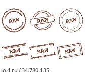 Raw Stempel - Raw stamps. Стоковое фото, фотограф Zoonar.com/Robert Biedermann / easy Fotostock / Фотобанк Лори