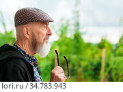 An image of an old man with a beard outdoor. Стоковое фото, фотограф Zoonar.com/magann / easy Fotostock / Фотобанк Лори