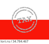 Steuer Stempel und Fahne von Polen - Tax stamp and flag of Poland. Стоковое фото, фотограф Zoonar.com/Robert Biedermann / easy Fotostock / Фотобанк Лори