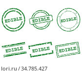 Edible Stempel - Edible stamps. Стоковое фото, фотограф Zoonar.com/Robert Biedermann / easy Fotostock / Фотобанк Лори