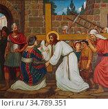 Prynne Edward Arthur Fellowes - a Woman Wipes the Face of Jesus - ... Редакционное фото, фотограф Artepics / age Fotostock / Фотобанк Лори