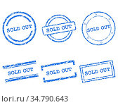 Sold out Stempel - Sold out stamps. Стоковое фото, фотограф Zoonar.com/Robert Biedermann / easy Fotostock / Фотобанк Лори