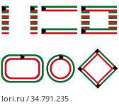 Fahnen von Kuwait mit Textfreiraum - Flags of Kuwait with copy space. Стоковое фото, фотограф Zoonar.com/lantapix / easy Fotostock / Фотобанк Лори