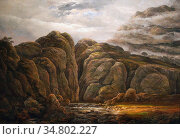 Dahl Johan Christian Clausen - Norwegian Mountain Landscape - Norwegian... Редакционное фото, фотограф Artepics / age Fotostock / Фотобанк Лори