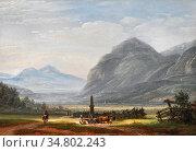 Dahl Johan Christian Clausen - Landskap Ved Innsbruck - Norwegian... Редакционное фото, фотограф Artepics / age Fotostock / Фотобанк Лори