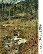 Munthe Gerhard - Spring in the Forest - Norwegian School - 19th Century... Редакционное фото, фотограф Artepics / age Fotostock / Фотобанк Лори