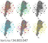 Karten von Argentinien mit Feuerwerk - Maps of Argentina with fireworks... Стоковое фото, фотограф Zoonar.com/lantapix / easy Fotostock / Фотобанк Лори
