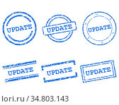 Update Stempel - Update stamps. Стоковое фото, фотограф Zoonar.com/Robert Biedermann / easy Fotostock / Фотобанк Лори