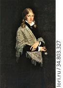 Peterssen Eilif - Die Malerin Andrea Gram - Norwegian School - 19th... Редакционное фото, фотограф Artepics / age Fotostock / Фотобанк Лори
