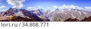 Panoramic picture of the Großglockner mountain range in Austria, Summer... Стоковое фото, фотограф Zoonar.com/Patrick Daxenbichler / easy Fotostock / Фотобанк Лори