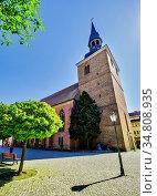 Church St. Jacobi, Nauen, Brandenburg, Germany. Стоковое фото, фотограф Zoonar.com/Lothar Steiner / easy Fotostock / Фотобанк Лори