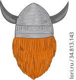 Drawing sketch style illustration of a norseman viking warrior raider... Стоковое фото, фотограф Zoonar.com/patrimonio designs limited / easy Fotostock / Фотобанк Лори
