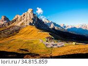 La Gusela, Nuvolau gruppe, South Tirol, dolomites mountains, Passo... Стоковое фото, фотограф Zoonar.com/Fesus Robert / easy Fotostock / Фотобанк Лори