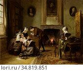 Bles David - Wie Leert Tekenen Leert Zien - Dutch School - 19th Century... Редакционное фото, фотограф Artepics / age Fotostock / Фотобанк Лори