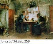 Blommers Bernardus Johannes - De Brief - Dutch School - 19th Century. Редакционное фото, фотограф Artepics / age Fotostock / Фотобанк Лори