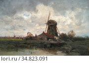 Gruppe Charles Paul - Daar Bij Die Molen - Dutch School - 19th Century... Редакционное фото, фотограф Artepics / age Fotostock / Фотобанк Лори