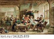 Kate Herman Ten - Het Begin Van De Knokpartij - Dutch School - 19th... Редакционное фото, фотограф Artepics / age Fotostock / Фотобанк Лори
