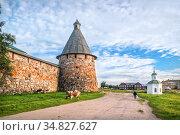 Прядильная башня Соловецкого монастыря. Стоковое фото, фотограф Baturina Yuliya / Фотобанк Лори