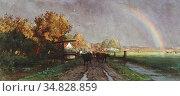Roelofs Willem - Na Het Onweer - Dutch School - 19th Century. Редакционное фото, фотограф Artepics / age Fotostock / Фотобанк Лори