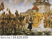 Entry of Roger de Flor in Constantinople. Painted by Jose Moreno ... Стоковое фото, фотограф Juan García Aunión / age Fotostock / Фотобанк Лори