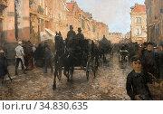 Tholen Willem Bastiaan - Na De Regenbui - Dutch School - 19th Century. Редакционное фото, фотограф Artepics / age Fotostock / Фотобанк Лори
