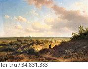 Vester Willem - in the Sunlit Dunes Haarlem Beyond - Dutch School... Редакционное фото, фотограф Artepics / age Fotostock / Фотобанк Лори