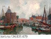 Wolter Hendrik Jan - Bedrijvigheid in De Haven Van Enkhuizen - Dutch... Редакционное фото, фотограф Artepics / age Fotostock / Фотобанк Лори