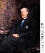 Millais, john everett - Anthony Ashley-Cooper, 7th Earl of Shaftesbury... Редакционное фото, фотограф Artepics / age Fotostock / Фотобанк Лори