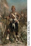 Koekkoek Hermanus Willem - a Dour Laddie of the Hindy-War the 2nd... Редакционное фото, фотограф Artepics / age Fotostock / Фотобанк Лори