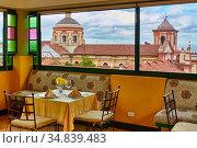 San Ignacio Church, Hotel de la Opera, La Candelaria, Bogota, Cundinamarca... (2016 год). Редакционное фото, фотограф Javier Larrea / age Fotostock / Фотобанк Лори
