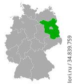 Karte von Brandenburg in Deutschland - Map of Brandenburg in Germany. Стоковое фото, фотограф Zoonar.com/Robert Biedermann / easy Fotostock / Фотобанк Лори