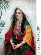 Vriendt Albrecht De - Portrait of a Jewish Bride from Bethlehem 1... Стоковое фото, фотограф Artepics / age Fotostock / Фотобанк Лори