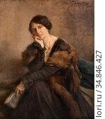 Gouweloos Jean - Jonge Dame Bij Het Lezen - Belgian School - 19th... Стоковое фото, фотограф Artepics / age Fotostock / Фотобанк Лори
