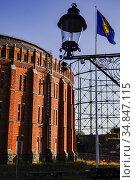 Stockholm, Sweden Old gas works buildings in the Norra Djurgardsstaden... Стоковое фото, фотограф A. Farnsworth / age Fotostock / Фотобанк Лори