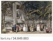 Vauxhall Gardens in London. From an 18th century print by Robert ... (2019 год). Редакционное фото, фотограф Classic Vision / age Fotostock / Фотобанк Лори