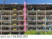 Detroit, Michigan - Construction of a new 2,280-bed jail for Wayne... Стоковое фото, фотограф Jim West / age Fotostock / Фотобанк Лори
