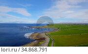 Beautiful view of sea coast 4k. Стоковое видео, агентство Wavebreak Media / Фотобанк Лори
