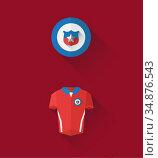 Chile jersey and crest vector. Стоковое фото, агентство Wavebreak Media / Фотобанк Лори