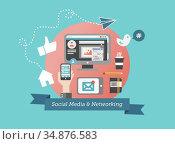 Social media and network concept vector. Стоковое фото, агентство Wavebreak Media / Фотобанк Лори