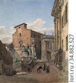 Alt Jacob - the Basilica of Santa Maria in Aracoeli and the Piazza... Редакционное фото, фотограф Artepics / age Fotostock / Фотобанк Лори