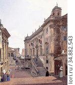 Alt Rudolf Von - Das Kapitol in Rom 2 - Austrian School - 19th Century... Редакционное фото, фотограф Artepics / age Fotostock / Фотобанк Лори