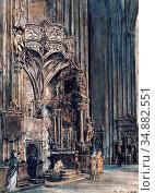 Alt Rudolf Von - Der Orgelfuss - Austrian School - 19th Century. Редакционное фото, фотограф Artepics / age Fotostock / Фотобанк Лори
