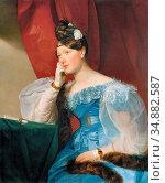 Amerling Friedrich Von - Countess Julie Von Woyna - Austrian School... Редакционное фото, фотограф Artepics / age Fotostock / Фотобанк Лори