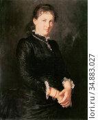 Defregger Franz Von - Anna Defregger - Austrian School - 19th Century. Редакционное фото, фотограф Artepics / age Fotostock / Фотобанк Лори