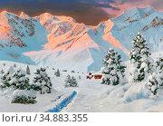 Arnegger Alois - Bregenzer Wald - Vorarlberg - Austrian School - ... Редакционное фото, фотограф Artepics / age Fotostock / Фотобанк Лори