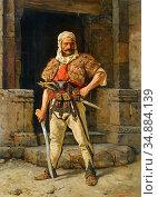 Jovanovic Pavle - a Serbian Warrior - Austrian School - 19th Century. Редакционное фото, фотограф Artepics / age Fotostock / Фотобанк Лори