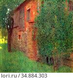Klimt Gustave - Bauernhaus in Kammer Am Attersee (Mühle) - Austrian... Редакционное фото, фотограф Artepics / age Fotostock / Фотобанк Лори