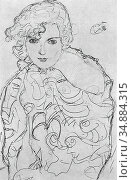 Klimt Gustave - Brustbild Einer Frau - Austrian School - 19th Century. Редакционное фото, фотограф Artepics / age Fotostock / Фотобанк Лори