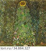 Klimt Gustave - Die Sonnenblume - Austrian School - 19th Century. Редакционное фото, фотограф Artepics / age Fotostock / Фотобанк Лори